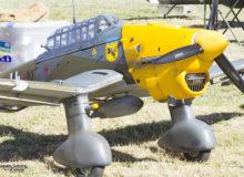 Detalle de la maqueta del Stuka