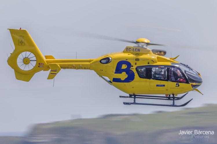 Helicóptero EC135 Bomberos Asturias