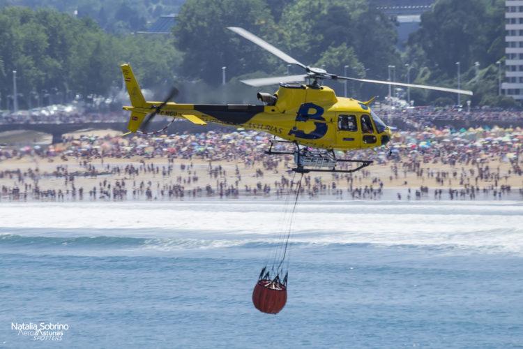 Helicóptero AS-350 Bomberos Asturias